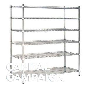 Stainless Steel Wire Shelves (24″ X 72″)